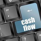 Cash Flow Investment Concept With A Button On Computer Keyboard