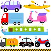 pic of four-wheel drive  - A set of cute vector A - JPG