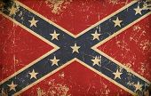 stock photo of confederate flag  - Illustration of an old - JPG