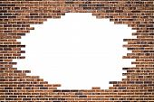 Brick wall (frame) and white background