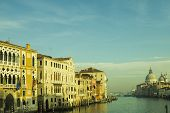 picture of academia  - A view of the Salute church and the grand canal from academia bridge - JPG