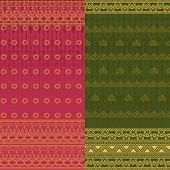 picture of indian sari  - Indian Sari Borders - JPG