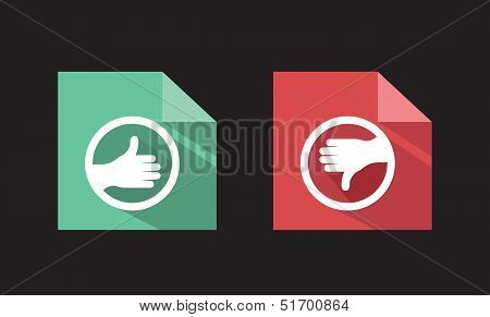 Vector Flat Icons Like Unlike Signs