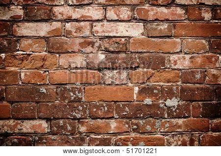 Dark Red Brick Wall Texture. Grunge Texture.