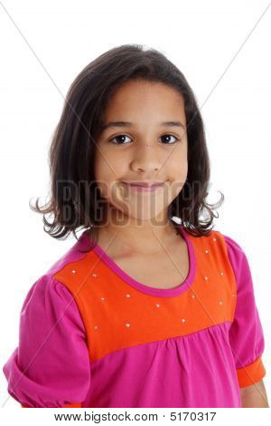 Girl On White Background