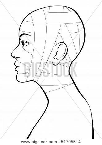 Head and neck bandage