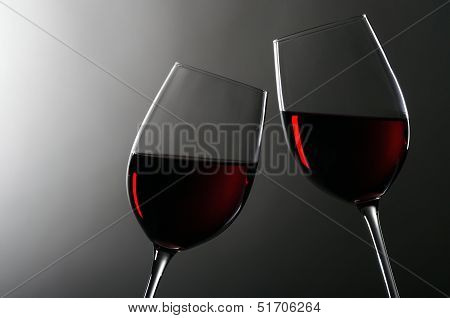 Two Wineglasses With Redwine