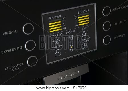 Modern Refrigerator Display Control Panel