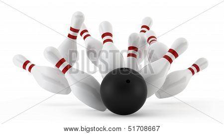 Crashed Bowling Skittles