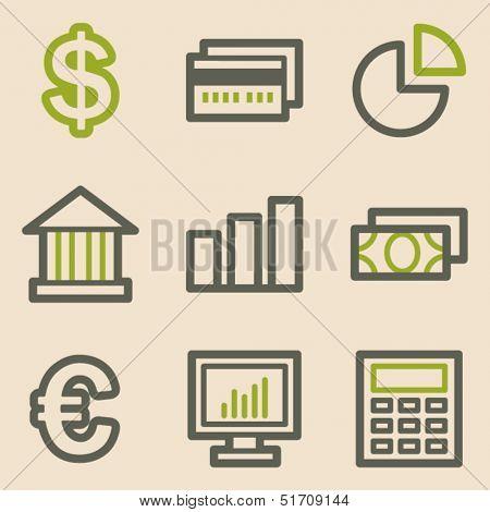Finance web icons set 1, vintage series
