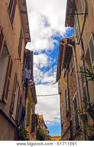 France, Cote d'Azur, in October 2013. Typical uses the old French town of Antibes