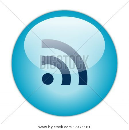 Glassy Blue RSS Icon