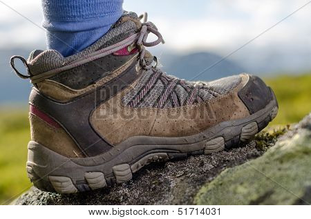 Tramping Boots On A Stone