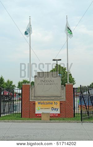 Entrance To The Indiana State Fairgrounds In Indianapolis Vertical