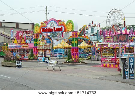 Entrance To Kiddie Land At The Indiana State Fair In Indianapolis
