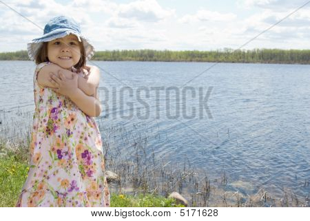 Child At The Lake
