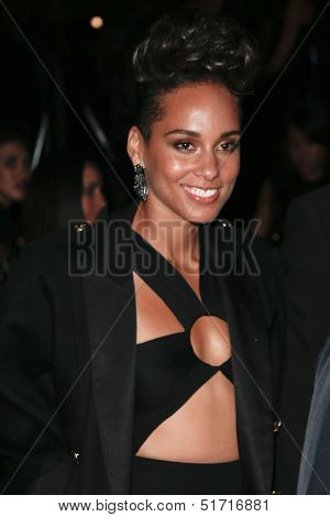 NEW YORK-SEP 28: Singer Alicia Keys attends the grand opening of TAO Downtown at the Maritime Hotel on September 28, 2013 in New York City.