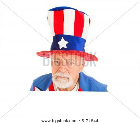 Uncle Sam Head - Unhappy