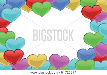 Illustration of a heart-designed border