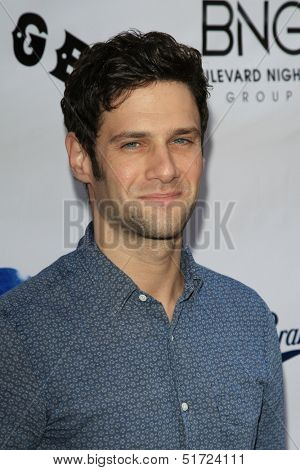 LOS ANGELES - OCT 1: Justin Bartha at the Screening of Xlrator Media's 'CBGB' at ArcLight Cinemas on October 1, 2013 in Los Angeles, California