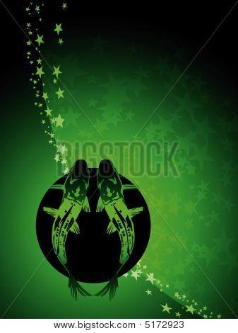 Pisces Zodiac Background