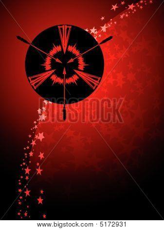 Sagittarius Zodiac Background