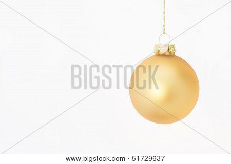 Gold Christmas Bulb