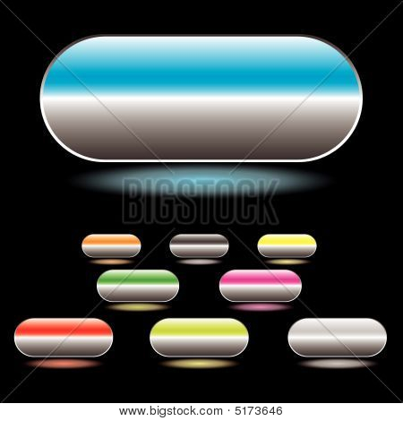 Split Button White