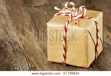 Brown Paper Package Tied Up With Strings