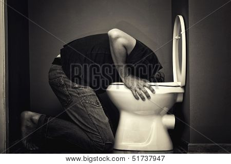 Man Vomiting