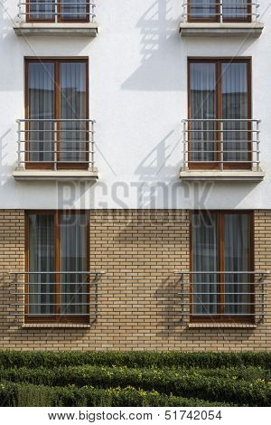 Wooden Windows In Multi Family House