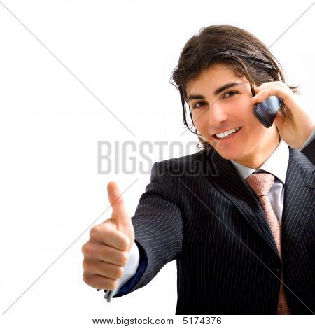 Young Business Man With Phone