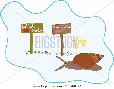 A Digital Art Of Snail