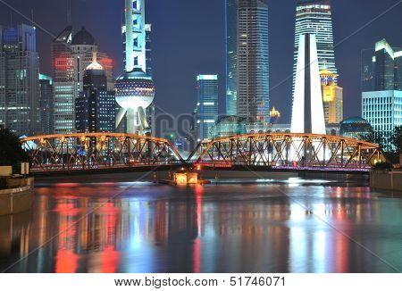 Shanghai bund landmark at New skyline