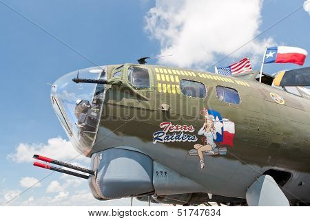 Nose Guns Of Boeing B-17 World War Ii Era American Bomber