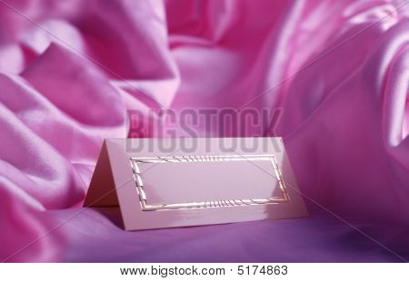 Invitation Card On Silk