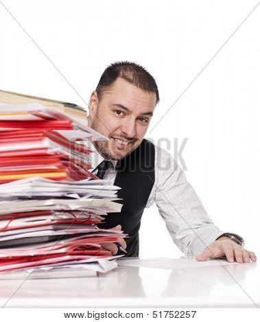 Man behind a office desk