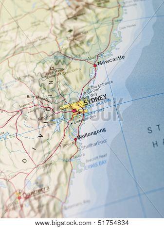 Map of Sidney