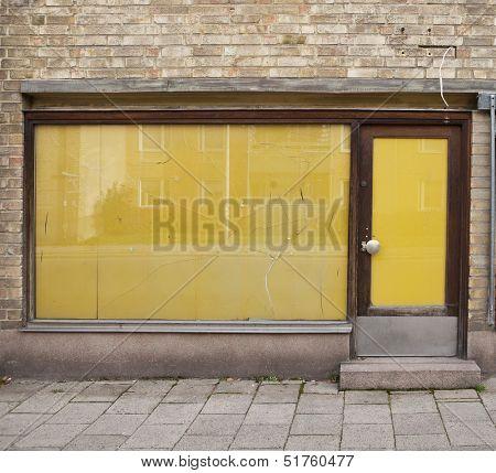 Door of an old closed shop