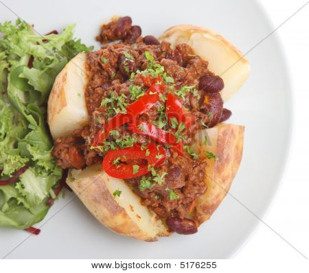 Jacket Potato With Chilli