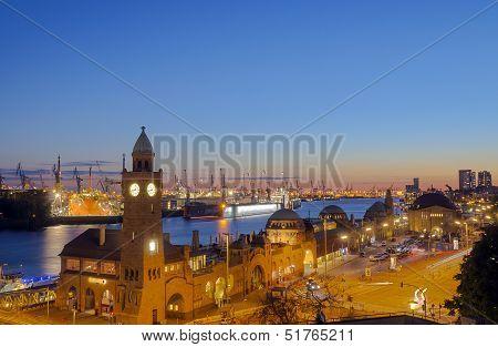 The Hamburg harbor