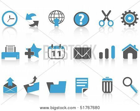 Toolbar Icons Set,blue Series