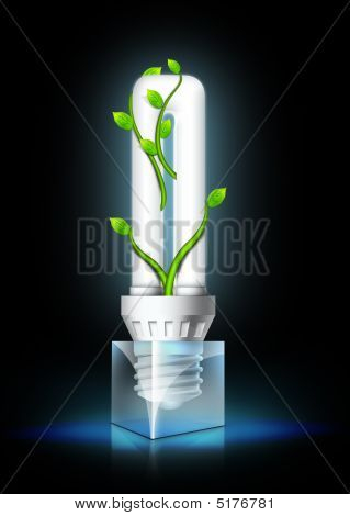 Lamptube black cube leaves