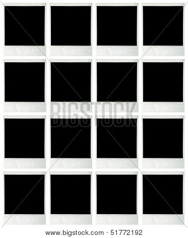 Collage of blank instant images