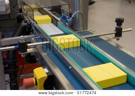 Yellow boxes in production line