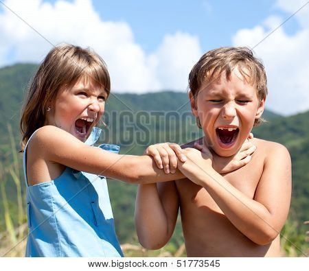 Children Are Swearing To Each Other