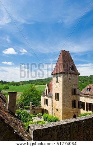 Typical house in French Dordogne the Perigord