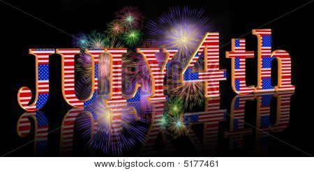 July 4Th Fireworks Background