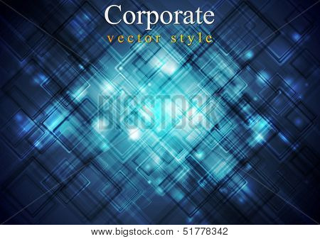 Dark blue hi-tech vector background