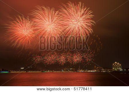 Beautiful Fireworks in the night